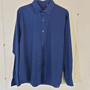 Van Huesen flex slim fit L blue pinstriped shirt